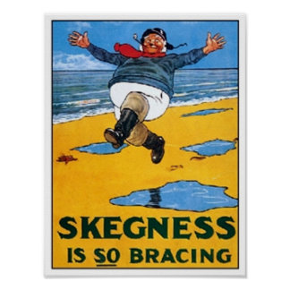 Vintage Skegness Ad - Skegness is so Bracing - Man Poster