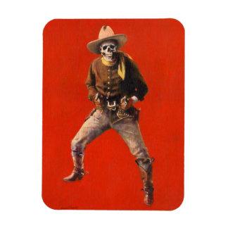 Vintage Skeleton Cowboy Flexi Fridge Magnet