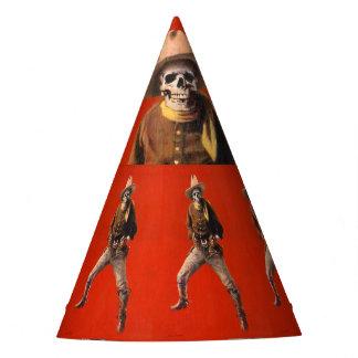 Vintage Skeleton Cowboy Party Hat