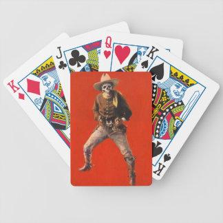 Vintage Skeleton Cowboy Poker Playing Cards
