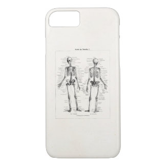 Vintage Skeleton Human Anatomy Bone Bones Skull iPhone 7 Case