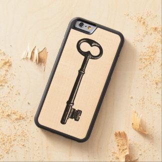 Vintage Skeleton Key Carved Maple iPhone 6 Bumper Case