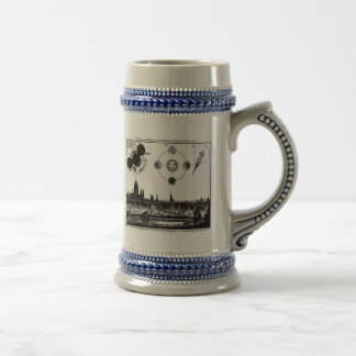 Vintage Sketch of 1748 Sun Eclipses in London Beer Stein