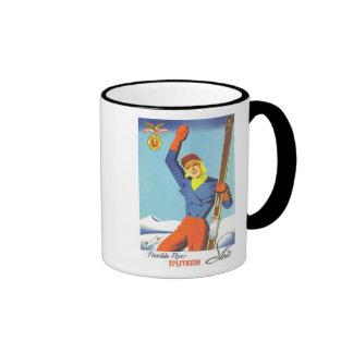 Vintage Ski Advertisement Mugs