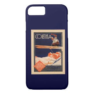 Vintage Ski ,  Cortina, Italy iPhone 7 Case