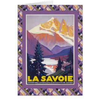 Vintage Ski, France, La Savoie Card