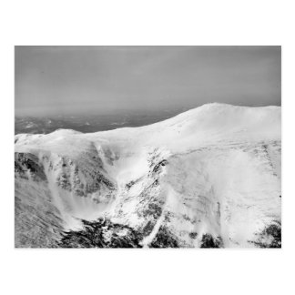 Vintage ski  image, Identifying the pistes Postcard