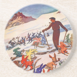 Vintage Ski Poster, Arlberg, St Anton Coaster