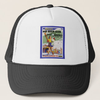 Vintage Ski Poster, Mad River Glen, Vermont Trucker Hat