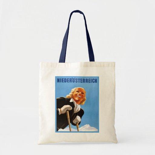 Vintage Ski poster Niedosterreich Canvas Bag