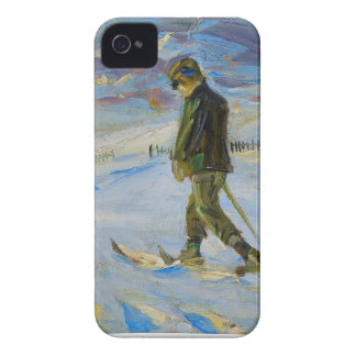 Vintage Ski poster Nordic skiing Case-Mate iPhone 4 Case