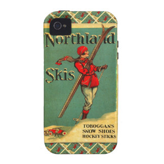 Vintage Ski Poster,  Northland Skis iPhone 4/4S Cover