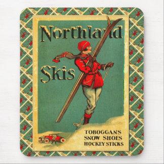Vintage Ski Poster,  Northland Skis Mouse Pads