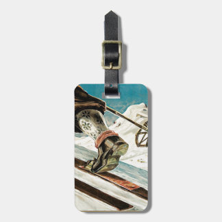 Vintage Ski poster, Norway, the home of skiing Luggage Tag