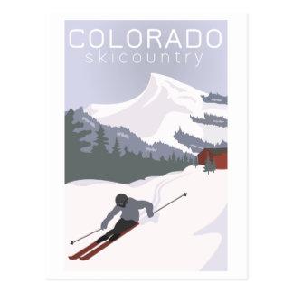 Vintage Ski Poster Postcard