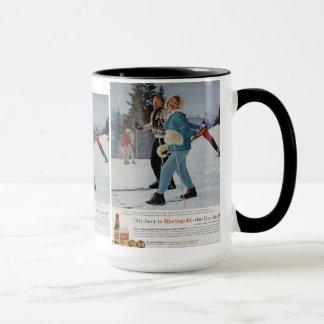 Vintage Ski Poster,  Rheingold beer Mug