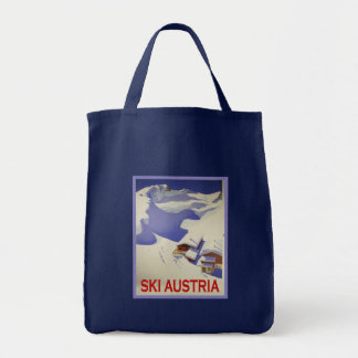 Vintage Ski Poster, Ski Austria Canvas Bag