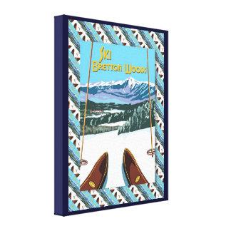 Vintage Ski poster,  Ski Bretton Woods Canvas Print