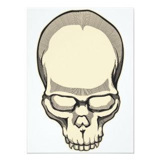 Vintage Skull 14 Cm X 19 Cm Invitation Card