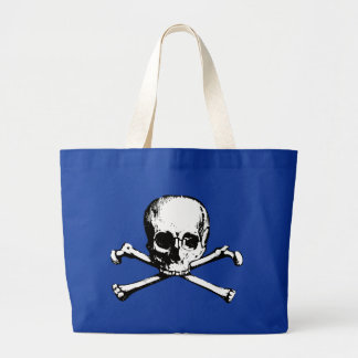 Vintage Skull and Crossbones Large Tote Bag