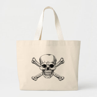 Vintage Skull and Crossbones Sign Bag