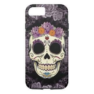 Vintage Skull and Roses iPhone 7 Tough iPhone 8/7 Case