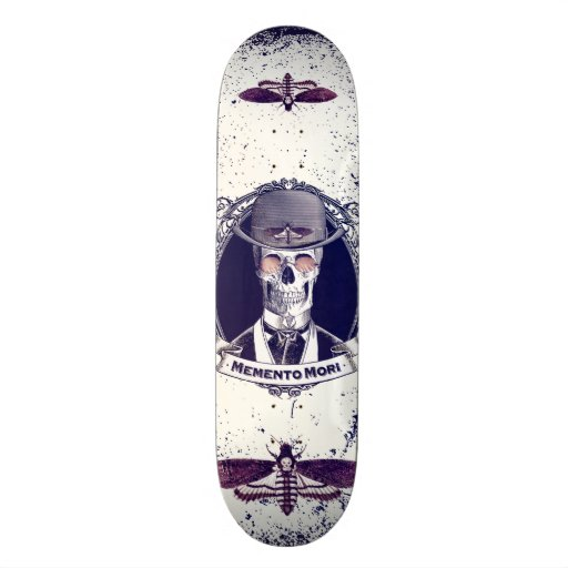 Vintage Skull Art Memento Mori skateboard Skate Boards