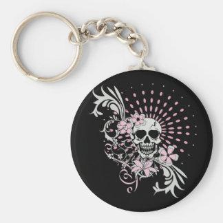Vintage Skull Basic Round Button Key Ring