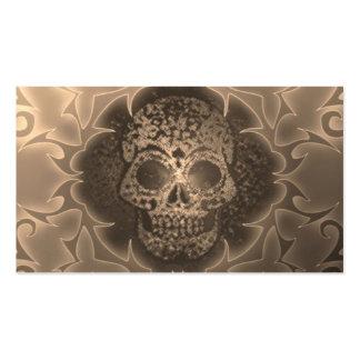 vintage skull business card template