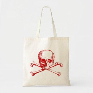 Vintage Skull & Crossbones Budget Tote Bag