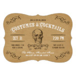 Vintage Skull Halloween Costume and Cocktail Party Personalised Invite