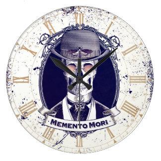 Vintage Skull Memento Mori wall clock