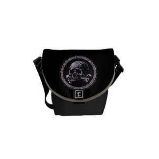 Vintage Skull round icon Commuter Bags