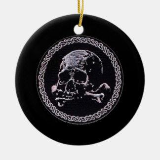 Vintage Skull round icon Round Ceramic Decoration