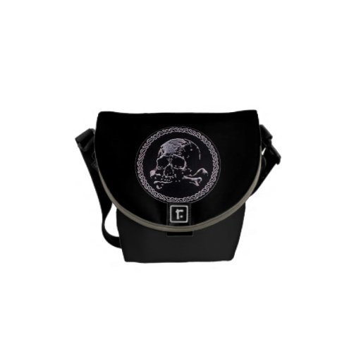 Vintage Skull round icon Courier Bags