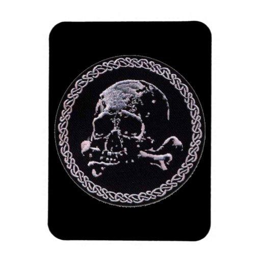 Vintage Skull round icon Magnet