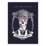 Vintage Skull Skeleton Halloween Party invitation