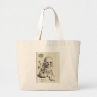 Vintage Skulls Tote Bags