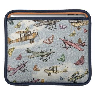 Vintage Sky - Planes and Butterflies iPad Sleeve