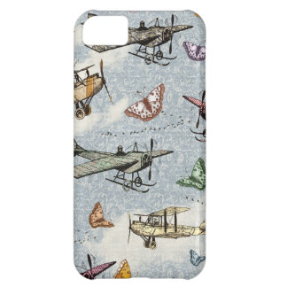 Vintage Sky - Planes and Butterflies iPhone 5C Case