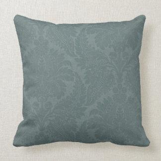 Vintage Slate Blue Throw Pillow