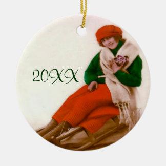 Vintage Sledding Ornament