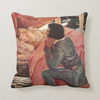 Vintage Sleeping Beauty by Jessie Willcox Smith Cushion