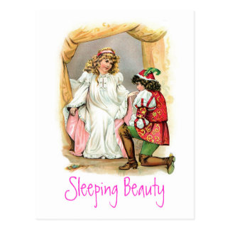 Vintage Sleeping Beauty Postcard