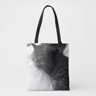 Vintage Sleeping Cat Photo | Tote Bag
