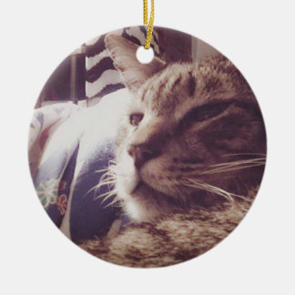 Vintage Sleepy Cat Photo | Ornament