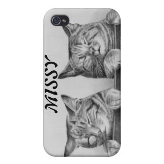 Vintage Sleepy Cats Cases For iPhone 4