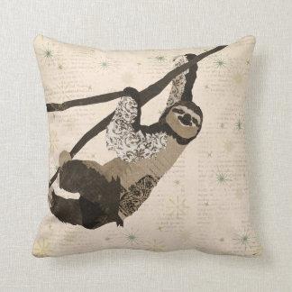 Vintage  Sloth Mojo Pillow