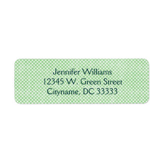 Vintage Small Green and White Dots Personalized Return Address Label