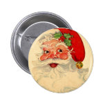Vintage Smiling Santa Christmas Holiday Gift Item Buttons
